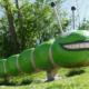 Spielplatz Stadtgärtnerei Hirtenhof Luzern Spielfiguren aus Douglasien