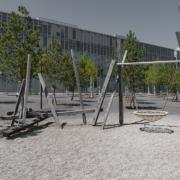 Spielplatz aus Eichenholz Oerliker Park