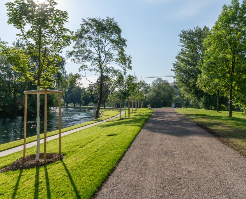 Flussbad Werdinsel Zürich Höngg