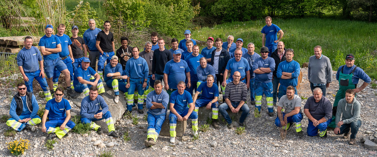 Das Team von Matter Garten AG in Buchs Zürich