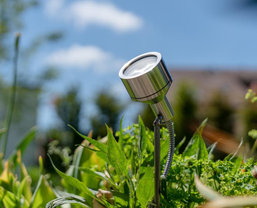 Dezente Beleuchtung Garten